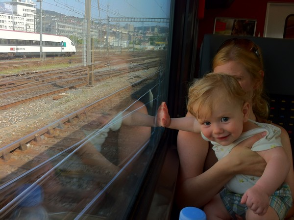 travel with baby by train