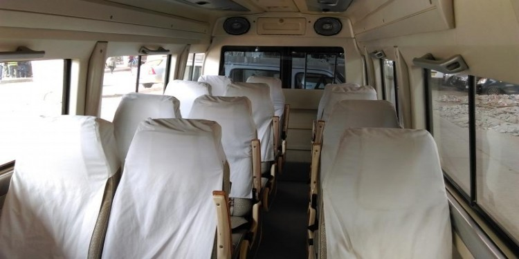 12 seater tempo traveller interior