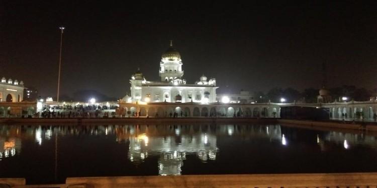Night Picture of Bangla Sahib