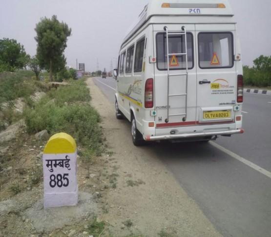 Trip to mumbai by tempo traveller
