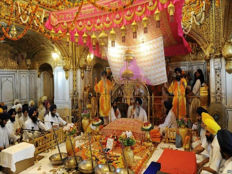 Interior of Golden Temple Amritsar