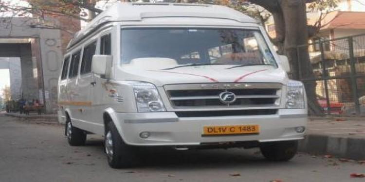 New 12 Seater Luxury Tempo Traveller Hire in Delhi